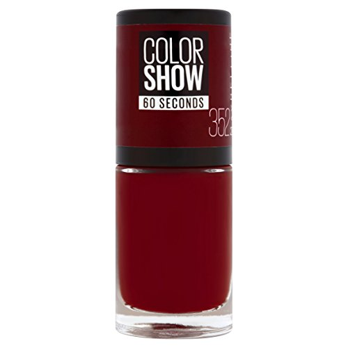 Maybelline New York Colorshow - Vernis à  ongles -352 Downtown Red - Rouge foncé