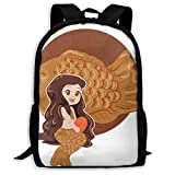 TTmom Mochila/Mochilas Tipo Casual,Bolsa de Viaje, Backpack Mermaid Icon Zipper...