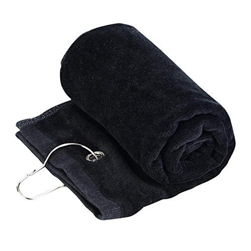 hong Almohadillas desmaquillantes, cómodo patrón de gofres de Microfibra, para Amantes Adultos(Black)