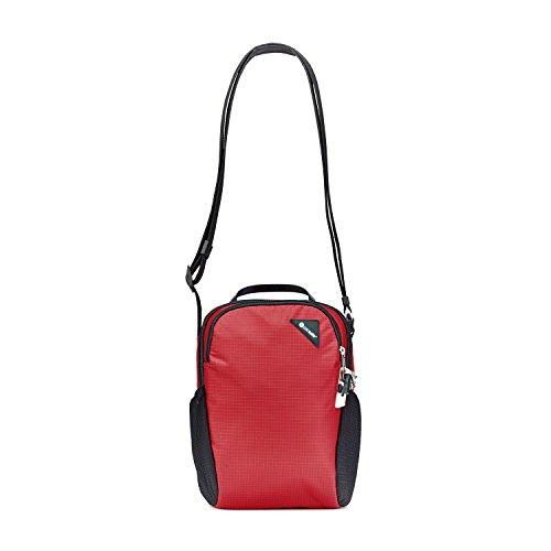 Pacsafe Vibe 200 Unisex-Erwachsene Anti-Theft Compact Travel Bag, Diebstahlschutz Umhängetasche, Rot / Goji Berry