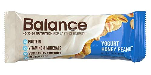Balance Bar, Healthy Protein Snacks, Yogurt Honey Peanut, With Vitamin A, Vitamin C, Vitamin D, and Zinc to Support Immune Health, 1.76 oz, 6 Count