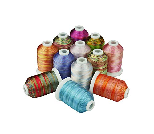 Save %55 Now! 12 Embroidery Thread 1000 Meters Each for Machine Hand Sewing Quilting Overlocking On ...