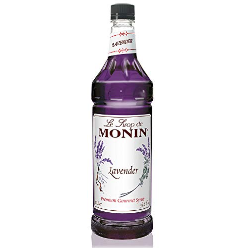 Monin - Lavender Syrup, Aromatic and Floral, Natural Flavors, Great for Cocktails, Lemonades, and Sodas, Vegan, Non-GMO, Gluten-Free (1 Liter), 33.8 Fl Oz