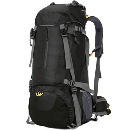 Yu$iOne Camping-Rucksack 55L, Wasserdicht Bergsteigen Rucksack FüR MäNner Und Frauen Mountaineering Rucksack, FüR Camping Klettern Outdoor Sport,Black