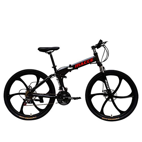 Adult Mountain Bike 26 inch Wheels Mountain Trail Bike High Carbon Steel Folding Outroad Bicycles 21-Speed Bicycle