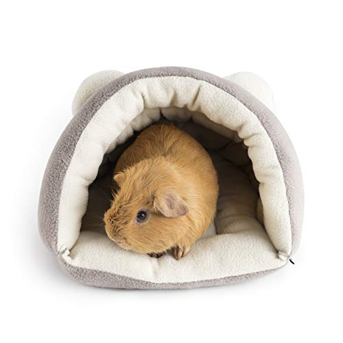Niteangel Guinea Pig Cave Beds Cozy House Bedding for Rats Chinchilla Degu Ferrets Hedgehog (Grey)