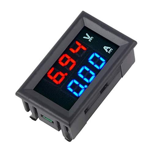 Voltmetro cc 100 V Amperometro blu + LED rosso Voltmetro digitale Calibro Amp Corrente doppia tensione per uso domestico