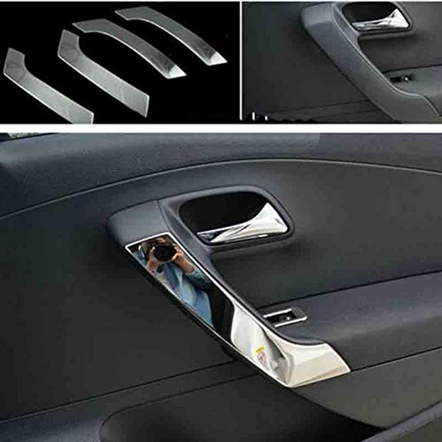Stainless Steel Interior Door Shake handshandle Car Accessories CarStyling for VW Volkswagen Polo 20112017 6R