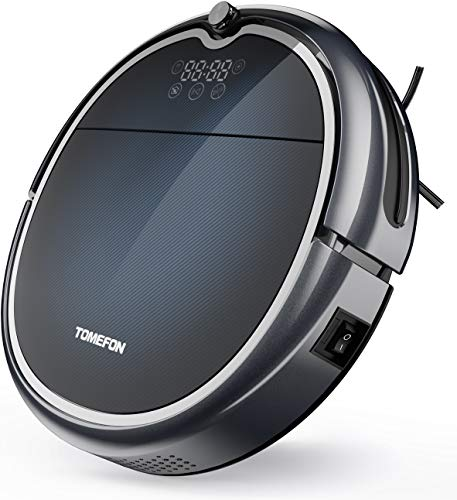 TOMEFON Robotic Vacuum Cleaner with Wi-Fi Connected, Max Power Suction,Self-Charging, Quiet, Robot Vacuum for Hard Floors & Carpets (Updated) Dining Features Kitchen Robotic Vacuums