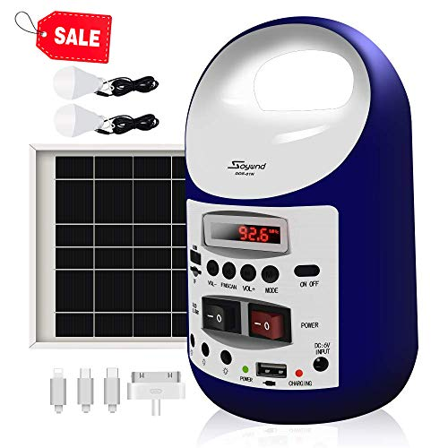 soyond Portable Solar Generator with Solar Panel Solar Powered Generator Inverter Small Basic Portable Electric Generator Kit