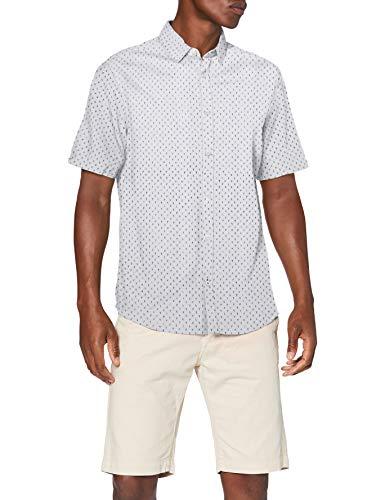 TOM TAILOR Herren Ray Seersucker Hemd, 23276-white Navy Cactus de, XXXL
