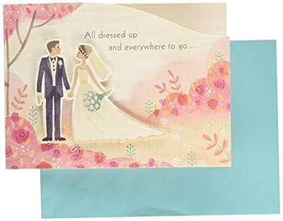 Hallmark Paper Wonder Paper Craft Wedding Card (Beautiful Journey)