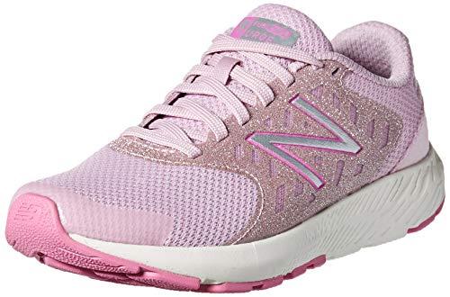 New Balance Girls' Urge V2 FuelCore Running Shoe, OXYGEN PINK/LIGHT CARNIVAL, 5 W US Big Kid