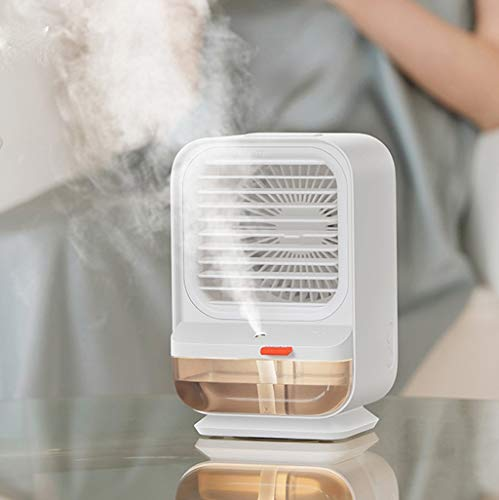 Yousiju Ventilador de escritorio Ventilador eléctrico pequeño Dormitorio de verano Tipo de carga Escritorio de oficina silencioso Spray Sacudiendo la cabeza (Color : C)
