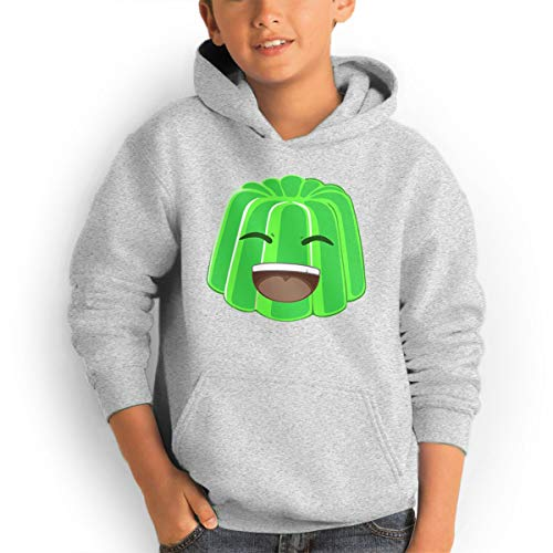 AOOIUU JellyYT Jelly YT Logo Youth Teen Pullover Hooded Pocket Sweater for Boys and Girls Gray