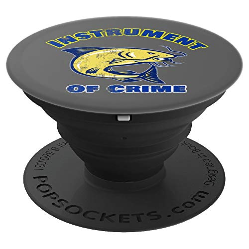 Ice Hockey Instrument of Crime Distressed PopSockets Grip and Stand for Phones and Tablets