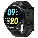 Smart Watch for Women Men, Tinwoo T21WL Support Wireless Charging, Activity Tracker with Heart Rate Monitor, 5ATM Waterproof Pedometer Smartwatch Sleep Monitor for iPhone and Android (Black)