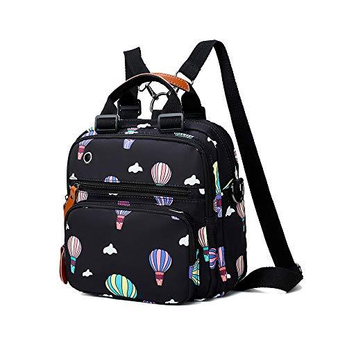 okasis Mini Damen Rucksack, bedruckt, Crossbody-Tasche, lässiger kleiner Tagesrucksack für Mädchen