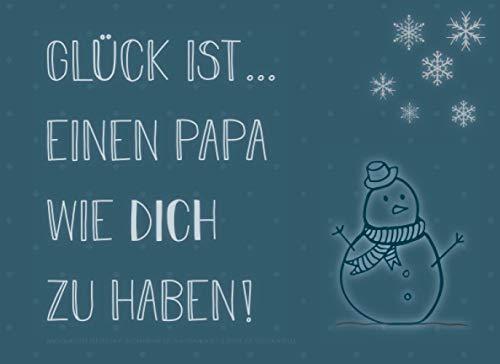 Adventskalender für den Papa, Gutscheinbuch mit 24 Gutscheinen als Geschenk zum Selbstausfüllen, Glück ist… einen Papa wie dich zu haben: ... Geschenkidee für jeden Vater zum Advent