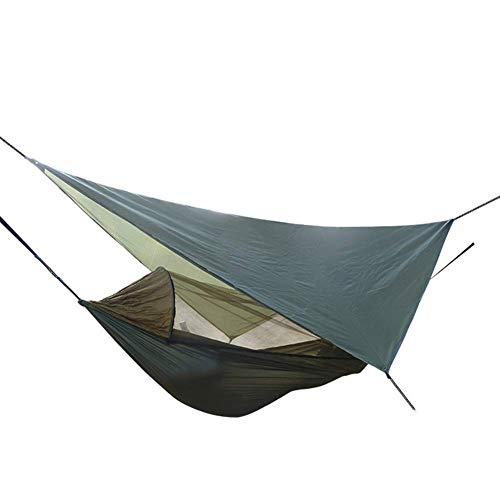XHLLX Hamaca de Camping al Aire Libre con mosquitera 280 cm * 140 cm portátil con Bolsa de Transporte para mochileros, Camping, Patio Trasero, Fuera de la Lucha Negra Naranja