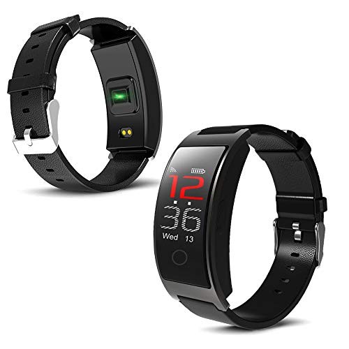 inDigi Universal M3 Compatible with Bluetooth (iOS & Android) Fitness Tracker & SmartWatch Blood Pressure/Oxygen - Pedometer - Heart Rate (Black)