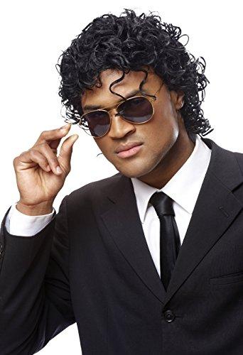 Costume Culture Men's Wet Look Wig, Black, One Size