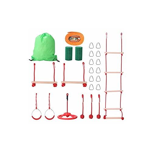 Useful Niños al Aire Libre Cuerda de Escalada Línea de Ejercicios Obstáculo Entrenamiento Accesorios para niños Jardín Camping Equipo Deportivo Convenient ( Color : Type A )