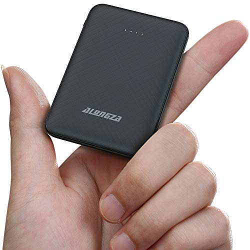 Alongza Portable Phone Charger,5000mAh External Battery Power Pack 0.22lb Pocket Size Ultra Slim USB Cell Phone Power Bank Compatible with iPhone 12/11/Pro/Max/XS/XR/X/10/8/7/6,iPad,Samsung,Android