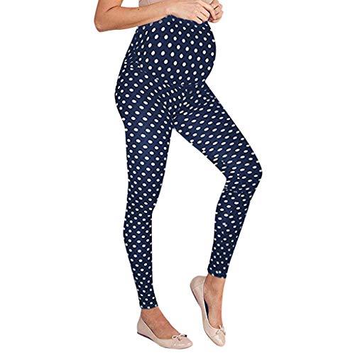 Ulanda-EU Umstandsleggings Schwangerschaft Leggings Frauen Mutter Umstandsstrumpfhose Punktdruck Hose Yoga Hosen Damen Umstandsmode Freizeithose Elastische Strumpfhose