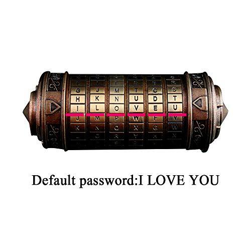 test Mingfuxin Da Vinci Code Mini Cryptex Zylinderschloss Interessante kreative Romantik… Deutschland