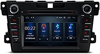 XTRONS Android 10 Car Stereo GPS Navigation for Mazda CX-7 2007-2012, Double Din DVD Car Stereo with Bluetooth 7 Inch Touch Screen Head Unit Built-in DSP Car Auto Play Supports OBD2 DVR Backup Camera