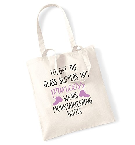 Forget the glass slippers this princess wears mountaineering boots tote bag