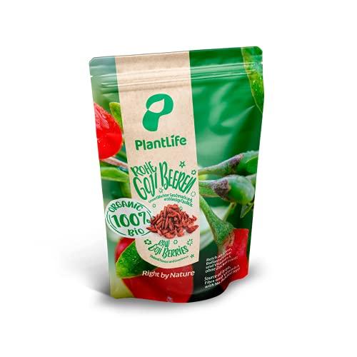 PlantLife Bacche goji BIO 500g – bacche goji grandi essiccate al sole, non trattate - 100% riciclabile