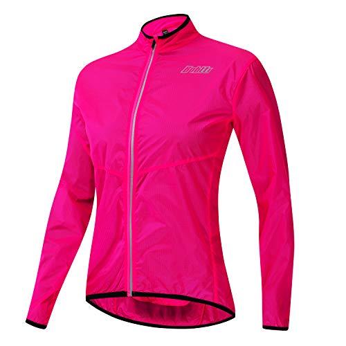 bpbtti Women's Lightweight Packable Cycling Sunscreen Jacket Long Sleeve Coat (Pink,XL)