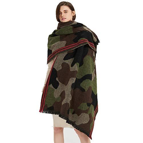 Cashmere Scarf Camouflage Shawl Wrap Oversized Poncho Cape Travel Blanket Scarf Pashmina Cardigans, XXXX-Large