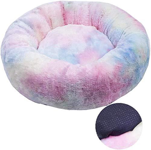 YAOSHUYANG Perro Cama Pet DOY Cat Cable Cama COMÁCLA Completo Caliente Caliente Cómodo, Ideal para Dormir de Calidad en Invierno, marrón, 60 cm (Color : Pink, Size : 60cm)