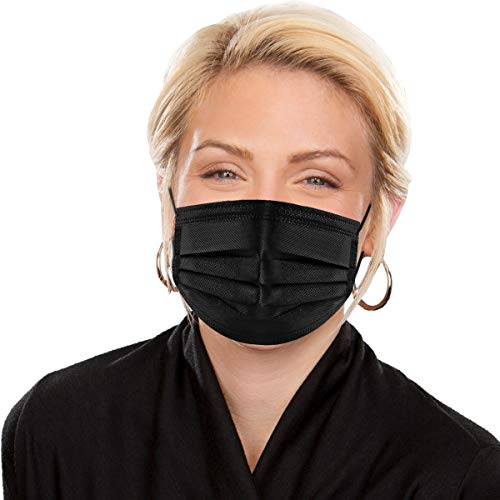 eZthings Professional Disposable Face Masks for Personal Protective Equipment Safety (50 Pack-...