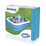 Zoom IMG-2 bestway piscine gonflable deluxe bleue