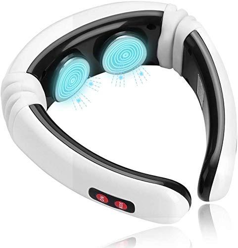 Dispositivo Di Massaggio Elettrico per Collo, Portatile Multifunzionale Massaggiatore Cervicale Per Spalle e Schiena Con 6 Tipi