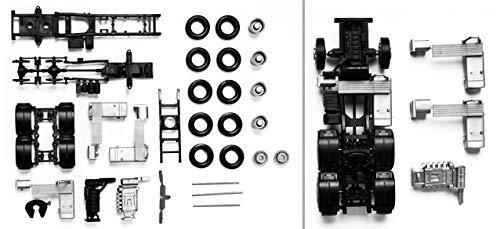 herpa 083539 - Zugmaschinen-Fahrgestell Man TGX/TGS 3-achs Fahrzeug, 2 Stück