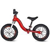 12 Pulgadas Bicicleta Infantil Sin Pedales, Bicicleta de Equilibrio Ligera Sin Pedal para NiñOs de 2 3 4 5 6 añOs, Balance Bike de AleacióN de Aluminio/A / 12 pulgadas