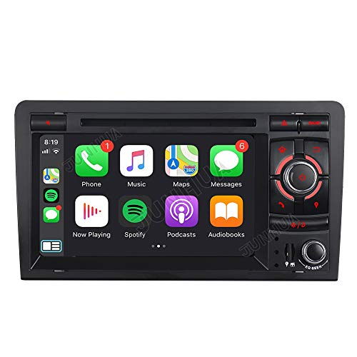 Junhua Android 10.0 Eingebautes Carplay+Android Auto DSP Autoradio DVD GPS Navigation Navi Radio Bluetooth DAB+ WiFi OBD Mirrorlink 4G LTE TPMS Lenkrad IPS für Audi A3 S3 RS3 8P 8V 8PA