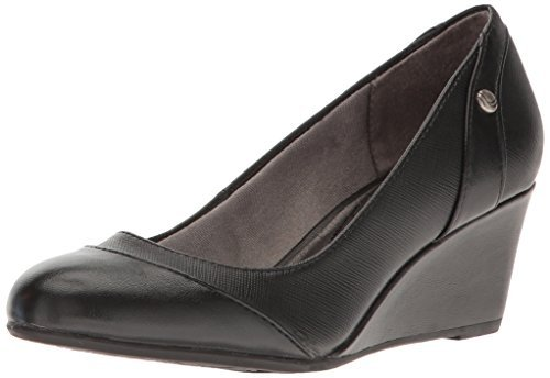 LifeStride Womens Dreams Wedge Pump, Black, 6 M US