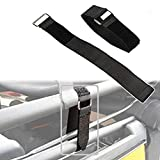 AUXMART Tie Down Straps for Jeep Wrangler 21' x 1.5' Hook & Steel Loop Fasteners Rear Window Secure Soft Top When Down or Sunrider Adjustable Cinch Straps for Auto, Home, Outdoors(A Pair)