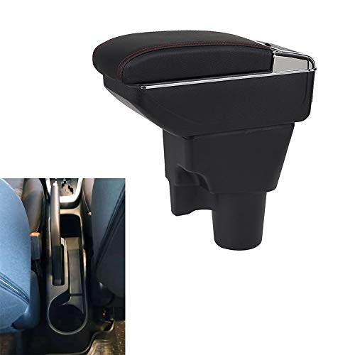 SZSS-CAR (Black Leather Car Interior Parts Center Console Armrest Box for Kia Picanto Auto Armrests Storage