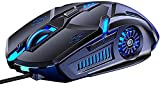 Verilux® Gaming Mouse, RGB Multi-Colour 3200DPI Wired Silent Mice Computer Accessories, for Home Office Games 6 Buttons Multiple Functions (Gaming Mouse)
