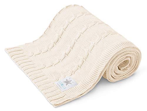 EliMeli Manta para bebé 100 % bambú, ligera manta de bambú para el verano y la primavera, ideal como manta de verano y como regalo para niños y niñas (crudo)