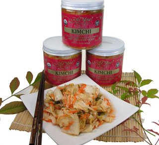 Gold Mine Organic Fresh Raw Un-Pasteurized Napa Cabbage Kimchi – Gluten-Free, Vegan, Korean-American Side Dish - 34 Oz (Made in the USA)