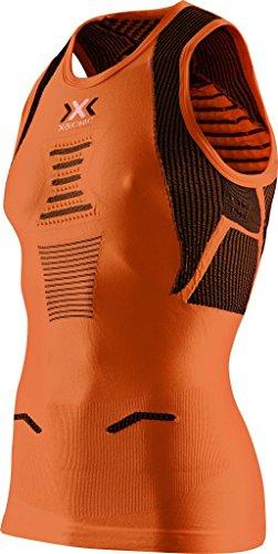 X-Bionic Running Man Adulte imperméable The Trick Ow Singlet S Multicolore - Orange Sunshine/Black