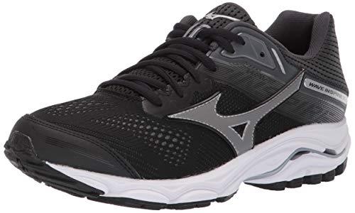 Mizuno Womens' Wave Inspire 15 Running Shoe, Black-Dark Shadow, 3.5 UK